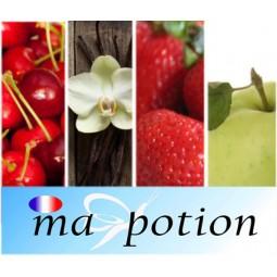 E-Liquide Lot de 4 saveur Fruits, Eliquide Français MA POTION, recharge liquide pour cigarette électronique, Ecig