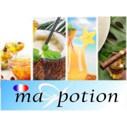 E-Liquide Lot de 4 saveur Cocktails, Eliquide Français MA POTION, recharge liquide pour cigarette électronique, Ecig