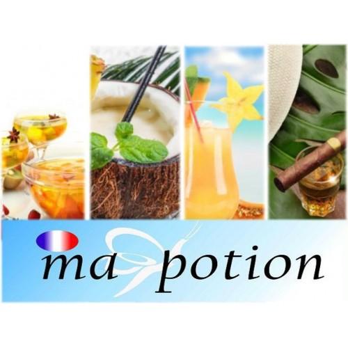 E-Liquide Lot de 4 saveur Cocktails, Eliquide Français, recharge liquide pour cigarette électronique, Ecig