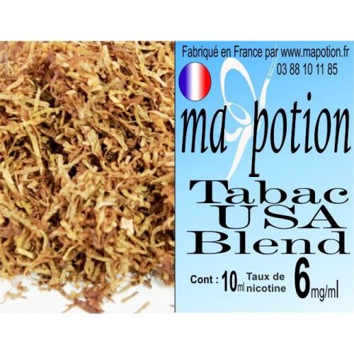 E-Liquide TABAC USA Blend, Eliquide Français, recharge liquide pour cigarette électronique, Ecig