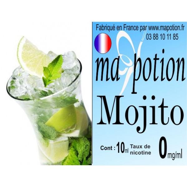 E-Liquide saveur Mojito, Eliquide Français, recharge liquide pour cigarette électronique, Ecig
