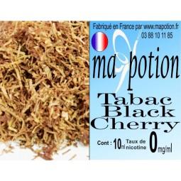 E-Liquide TABAC Black Cherry, Eliquide Français, recharge liquide pour cigarette électronique, Ecig