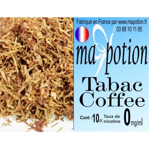 E-Liquide TABAC Coffee, Eliquide Français, recharge liquide pour cigarette électronique, Ecig