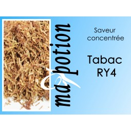 Saveur concentrée TABAC RY4 pour fabriquer ses Eliquides maison, E-Liquides DIY Sans nicotine ni tabac
