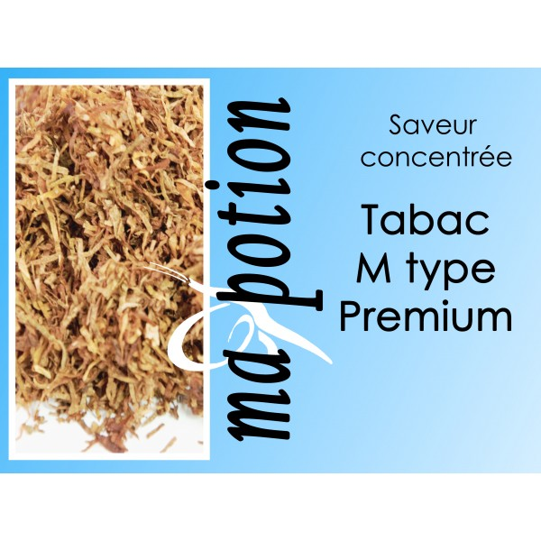 Saveur concentrée TABAC M type Premium pour fabriquer ses Eliquides maison, E-Liquides DIY