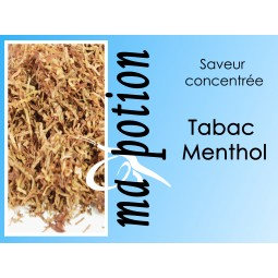 Saveur concentrée TABAC Menthol pour fabriquer ses Eliquides maison, E-Liquides DIY Sans nicotine ni tabac