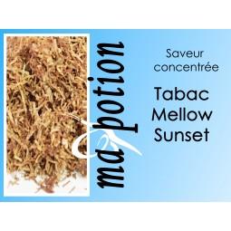 Saveur concentrée TABAC Mellow Sunset pour fabriquer ses Eliquides maison, E-Liquides DIY Sans nicotine ni tabac