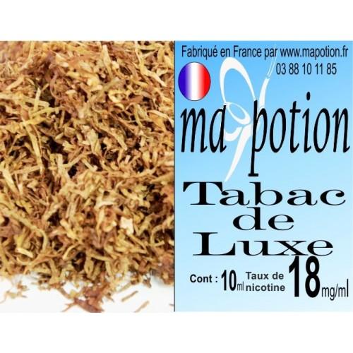 E-Liquide TABAC de Luxe, Eliquide Français, recharge liquide pour cigarette électronique, Ecig