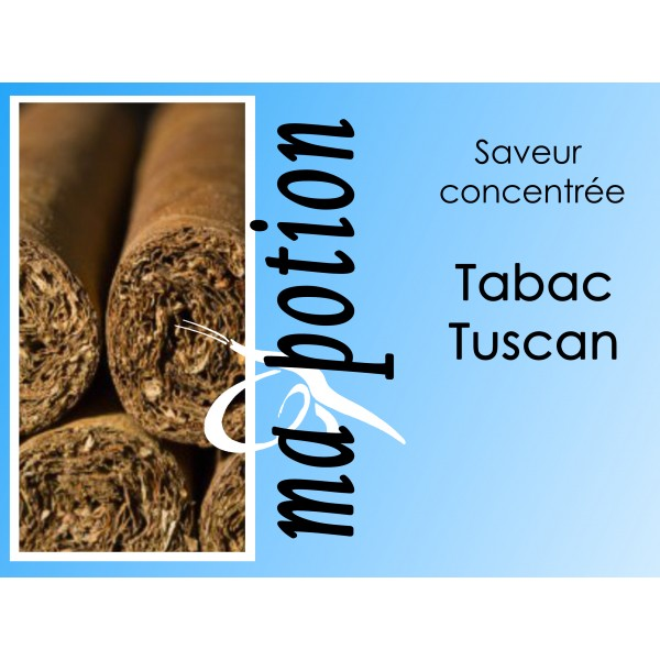 Saveur concentrée TABAC Tuscan pour fabriquer ses Eliquides maison, E-Liquides DIY
