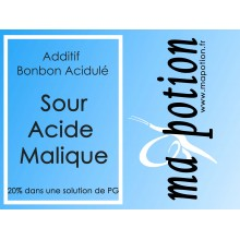 Additif Sour acide Malique 20% PG pour Eliquide