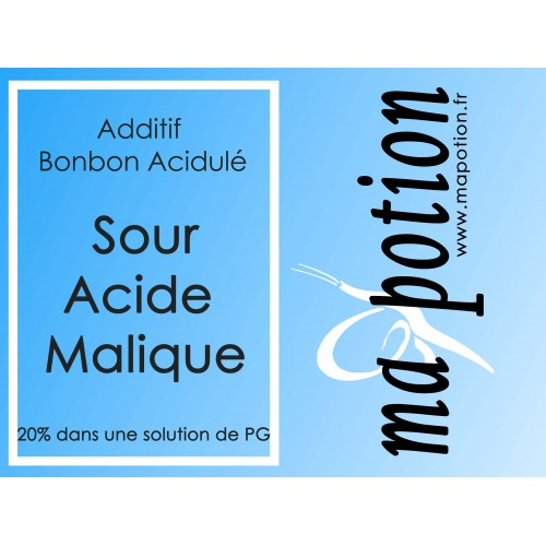 Additif Sour acide Malique 20% PG pour Eliquide