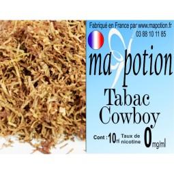 E-Liquide TABAC Cowboy, Eliquide Français, recharge liquide pour cigarette électronique, Ecig