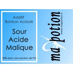 Additif Sour acide Malique 20% PG, acidulé, sucre acide, pour E-liquide Eliquide Sans nicotine ni tabac