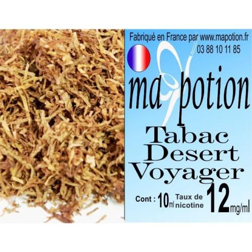 E-Liquide TABAC Desert Voyager, Eliquide Français, recharge liquide pour cigarette électronique, Ecig