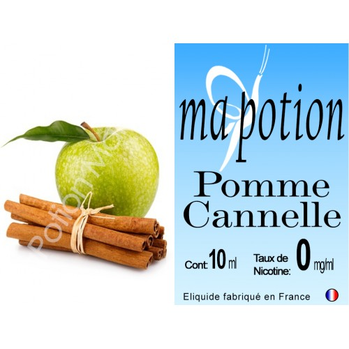 E-Liquide Fruit Pomme Cannelle, Eliquide Français, recharge liquide pour cigarette électronique, Ecig