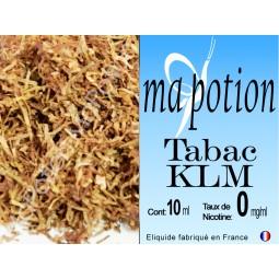 E-Liquide TABAC KLM, Eliquide Français, recharge liquide pour cigarette électronique, Ecig