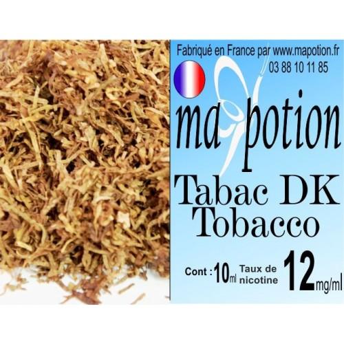 E-Liquide TABAC DK Tobacco, Eliquide Français, recharge liquide pour cigarette électronique, Ecig
