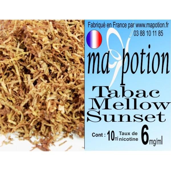 E-Liquide TABAC Mellow Sunset, Eliquide Français, recharge liquide pour cigarette électronique, Ecig