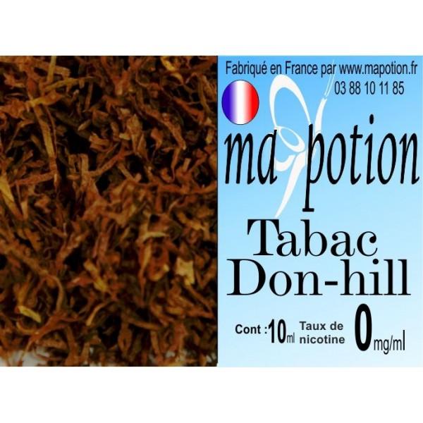 E-Liquide TABAC Don-Hill, Eliquide Français, recharge liquide pour cigarette électronique, Ecig