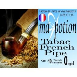 E-Liquide TABAC French Pipe, Eliquide Français, recharge liquide pour cigarette électronique, Ecig