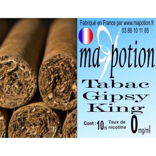 E-Liquide TABAC Gipsy King, Eliquide Français, recharge liquide pour cigarette électronique, Ecig