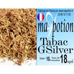 E-Liquide TABAC Gsilver, Eliquide Français, recharge liquide pour cigarette électronique, Ecig