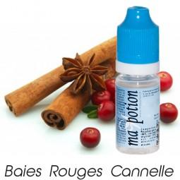 E liquide Français Fruit Baies rouges cannelle, 0 6 12 18 mg/ml, recharge pour cigarette électronique