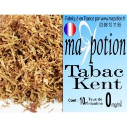 E-Liquide TABAC Kent, Eliquide Français, recharge liquide pour cigarette électronique, Ecig