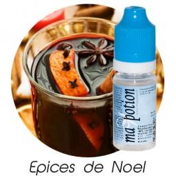 E liquide Français Saveur Epices de noel, 0 6 12 18 mg/ml, recharge pour cigarette électronique