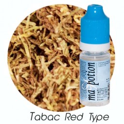 E liquide Français TABAC Red Type, 0 6 12 18 mg/ml, recharge pour cigarette électronique