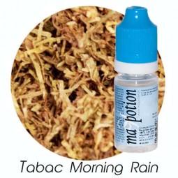 E liquide Français TABAC Morning Rain, 0 6 12 18 mg/ml, recharge pour cigarette électronique