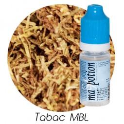 E liquide Français TABAC MBL, 0 6 12 18 mg/ml, recharge pour cigarette électronique