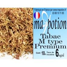E-Liquide TABAC M type Premium, Eliquide Français, recharge liquide pour cigarette électronique, Ecig