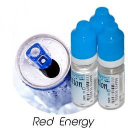 Lot de 3 E-Liquide Red Energy, Eliquide Français Ma Potion, recharge liquide cigarette électronique. Sans nicotine ni tabac