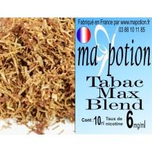 E-Liquide TABAC Max Blend, Eliquide Français, recharge liquide pour cigarette électronique, Ecig