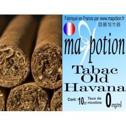 E-Liquide TABAC Old Havana, Eliquide Français, recharge liquide pour cigarette électronique, Ecig
