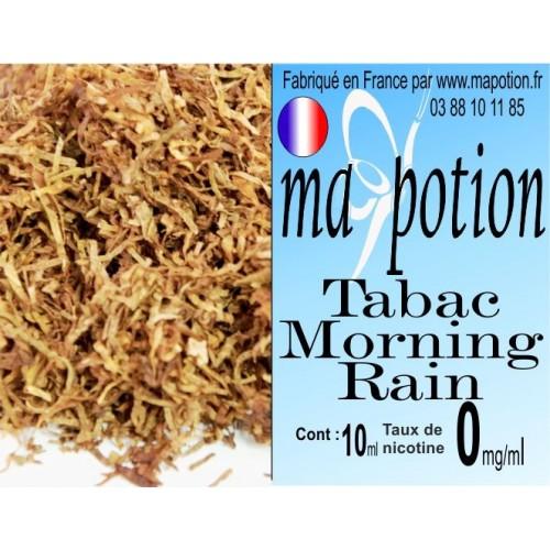 E-Liquide TABAC Morning Rain, Eliquide Français, recharge liquide pour cigarette électronique, Ecig