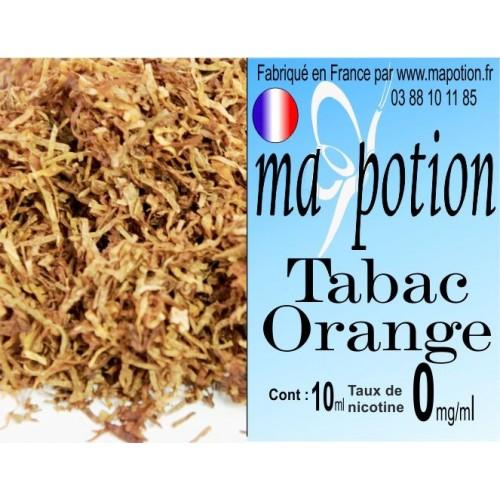 E-Liquide TABAC Orange, Eliquide Français, recharge liquide pour cigarette électronique, Ecig