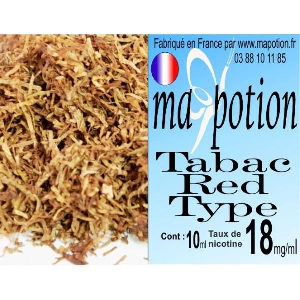 E-Liquide TABAC Red Type, Eliquide Français, recharge liquide pour cigarette électronique, Ecig