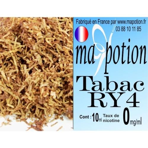 E-Liquide TABAC RY4, Eliquide Français, recharge liquide pour cigarette électronique, Ecig