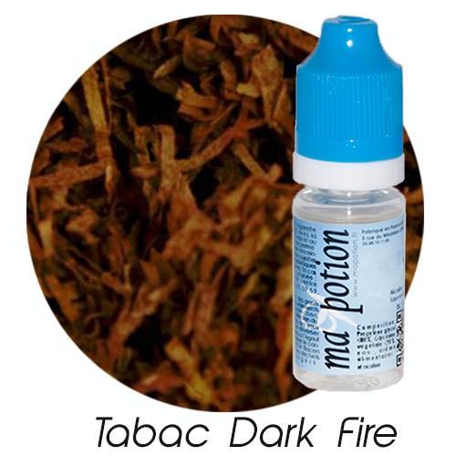 E-Liquide TABAC DARK FIRE, Eliquide Français, recharge liquide pour cigarette électronique, Ecig