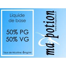 Liquide de base 50/50 6mg, 10 flacons de 10ml, pour fabrication de ELiquides DIY