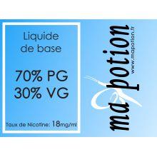 Liquide de Base 70/30 18mg, 10 flacons de 10ml, pour fabrication de Liquide ELiquide cigarette