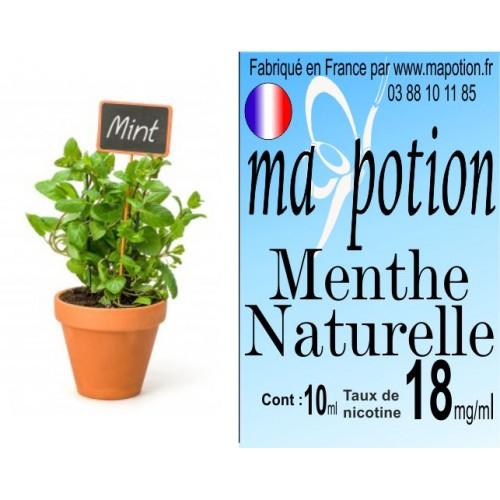 E-Liquide Saveur Menthe Naturelle, Eliquide Français, recharge liquide pour cigarette électronique, Ecig