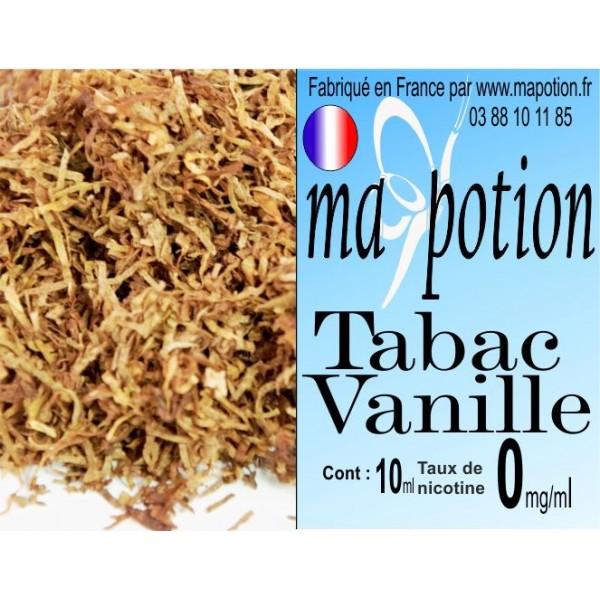 E-Liquide TABAC Vanille, Eliquide Français, recharge liquide pour cigarette électronique, Ecig