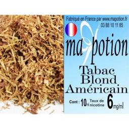 E-Liquide TABAC Blond Américain, Eliquide Français, recharge liquide pour cigarette électronique, Ecig