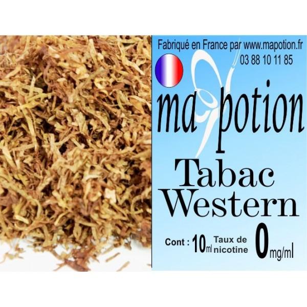 E-Liquide TABAC Western, Eliquide Français, recharge liquide pour cigarette électronique, Ecig