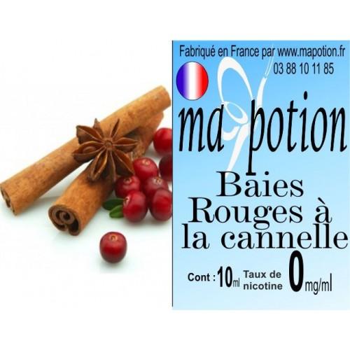 E-Liquide Fruit Baies rouges cannelle, Eliquide Français, recharge liquide pour cigarette électronique, Ecig
