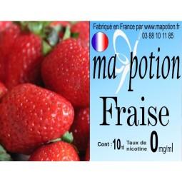 E-Liquide Fruit Fraise, Eliquide Français, recharge liquide pour cigarette électronique, Ecig