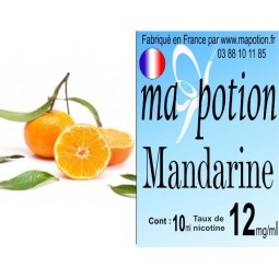 E-Liquide Fruit Mandarine, Eliquide Français, recharge liquide pour cigarette électronique, Ecig